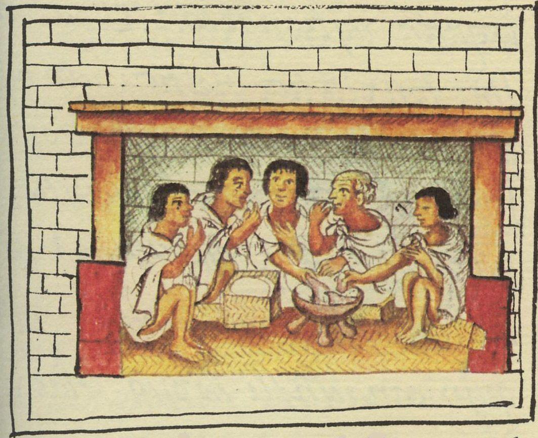 Asteekkeja aterialla