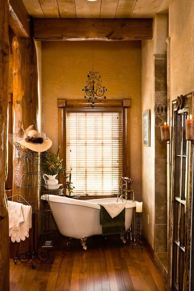 Cute Country Rustic Cabin Bathroom Western Bathroom