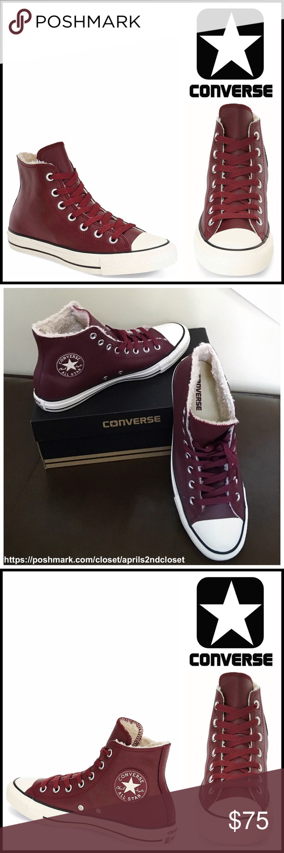 CONVERSE LEATHER SNEAKERS Faux Fur