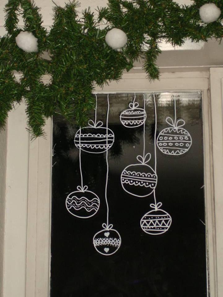 Christmas window decoration ideas gouache posca et for Fenetre originale