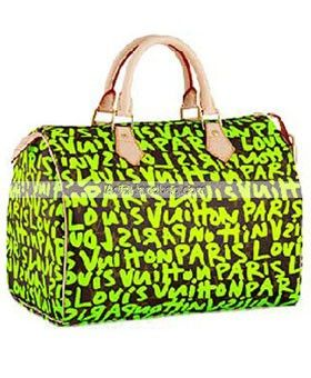 Whole Retail Handbag Replica Louis Vuitton Monogram Graffiti Stephen Sprouse Sdy 30 Green Bag Lv M42426 From Chinese Asia