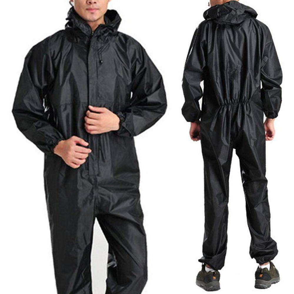 New Men Fashion Work One Piece Motorcycle Waterproof Raincoat Overalls Rain Suit Walmart Com In 2021 Mens Raincoat Raincoat Outfit Rain Coat Waterproof