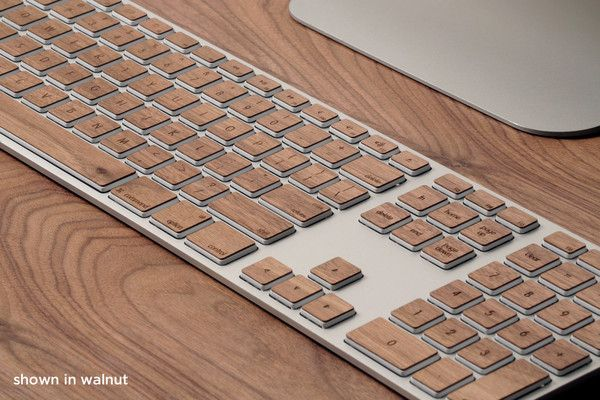 Lazerwood keys for Apple extended keyboard (by Lazerwood industries)