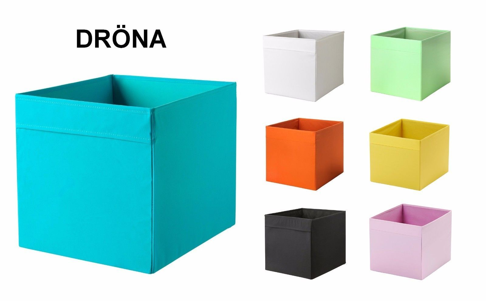 IKEA Blue Drona Storage Box Fabric  Boxes For Expedit Kallax Unit