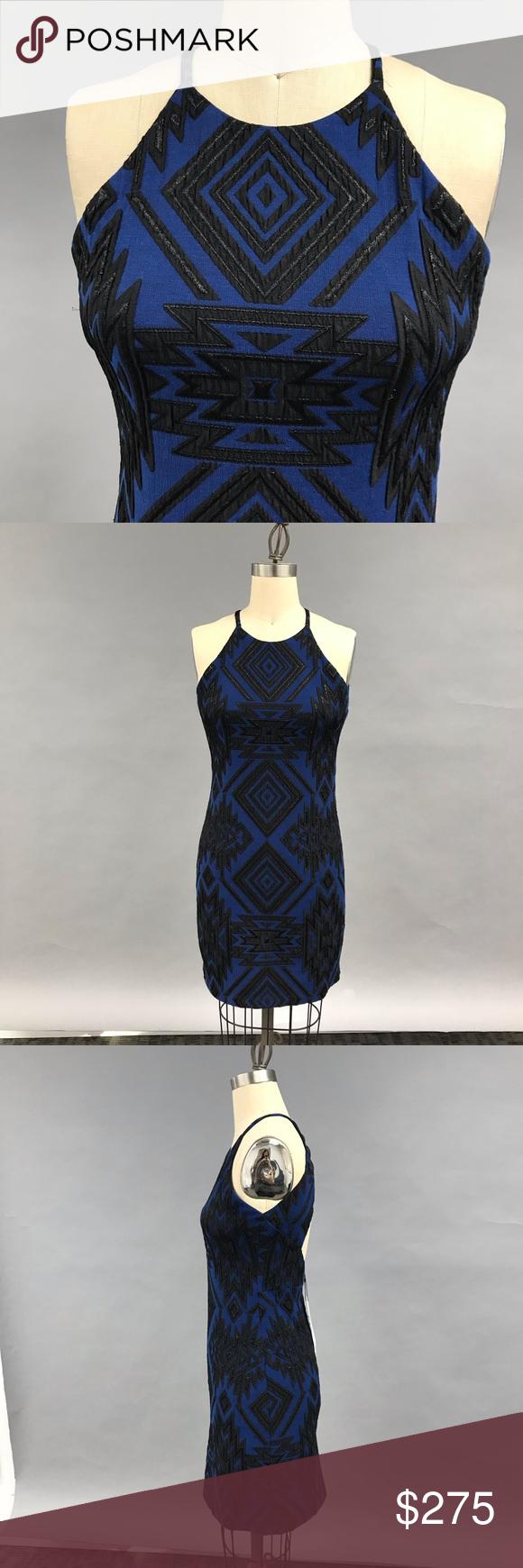 Parker Blue Brocade Mini Dress Nwt Clothes Design Fashion Parker Dress