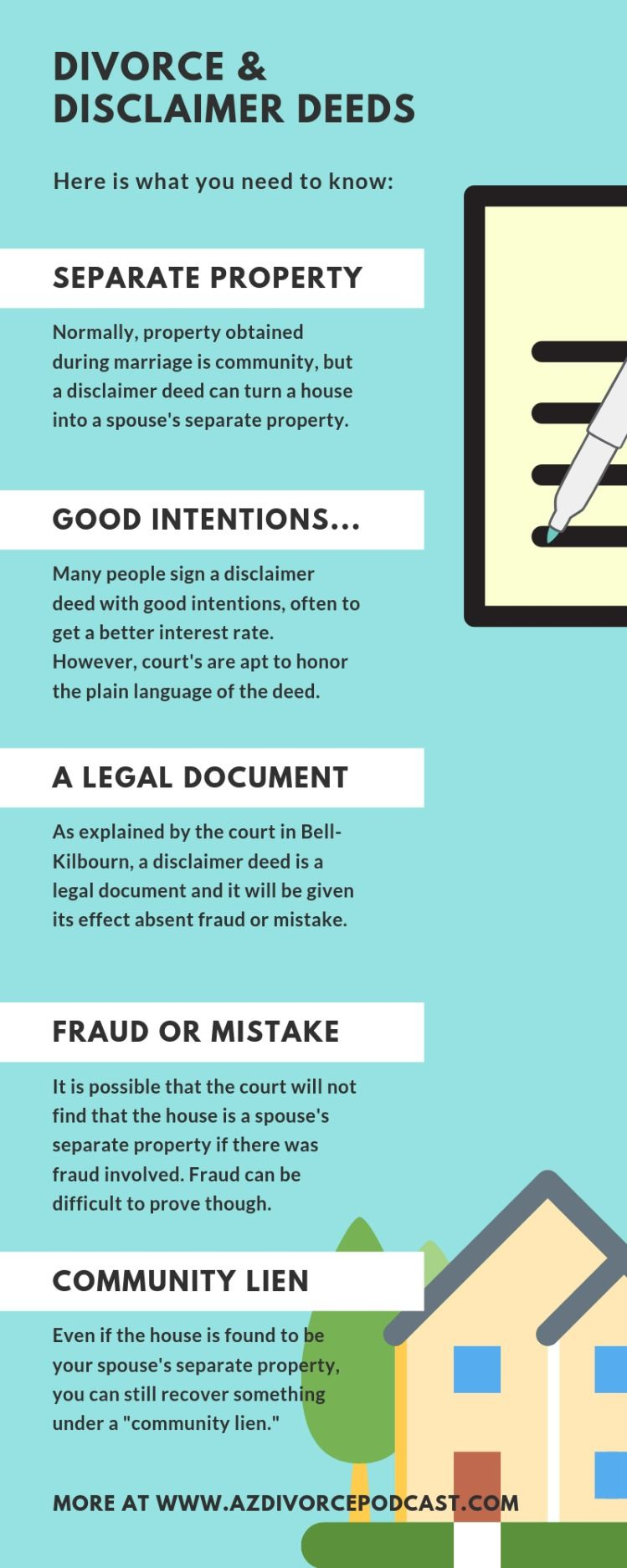 Arizona Disclaimer Deed You Must Read This Divorce Help How To Find Out Divorce