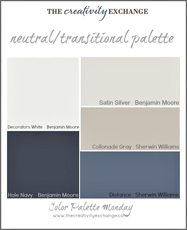 Readers' Favorite Paint Colors {Color Palette Monday} #halenavybenjaminmoore