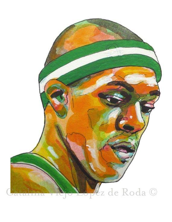 Boston Celtics Rajon Rondo Painting Reproduction by catalinaviejo, $22.00