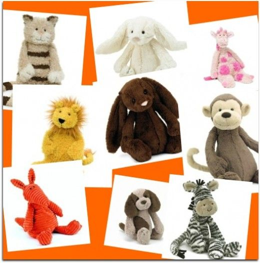 JellyCat stuffed animals. So many choices. http://netlexis.hubpages.com/hub/JellyCat-Stuffed-Animals