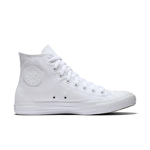 converse chuck taylor monochrome high top unisex shoe white