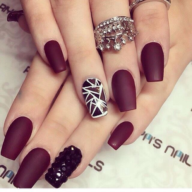 Matte Burgundy Nails - Matte Burgundy Nails Nail Art & Designs Pinterest Accent
