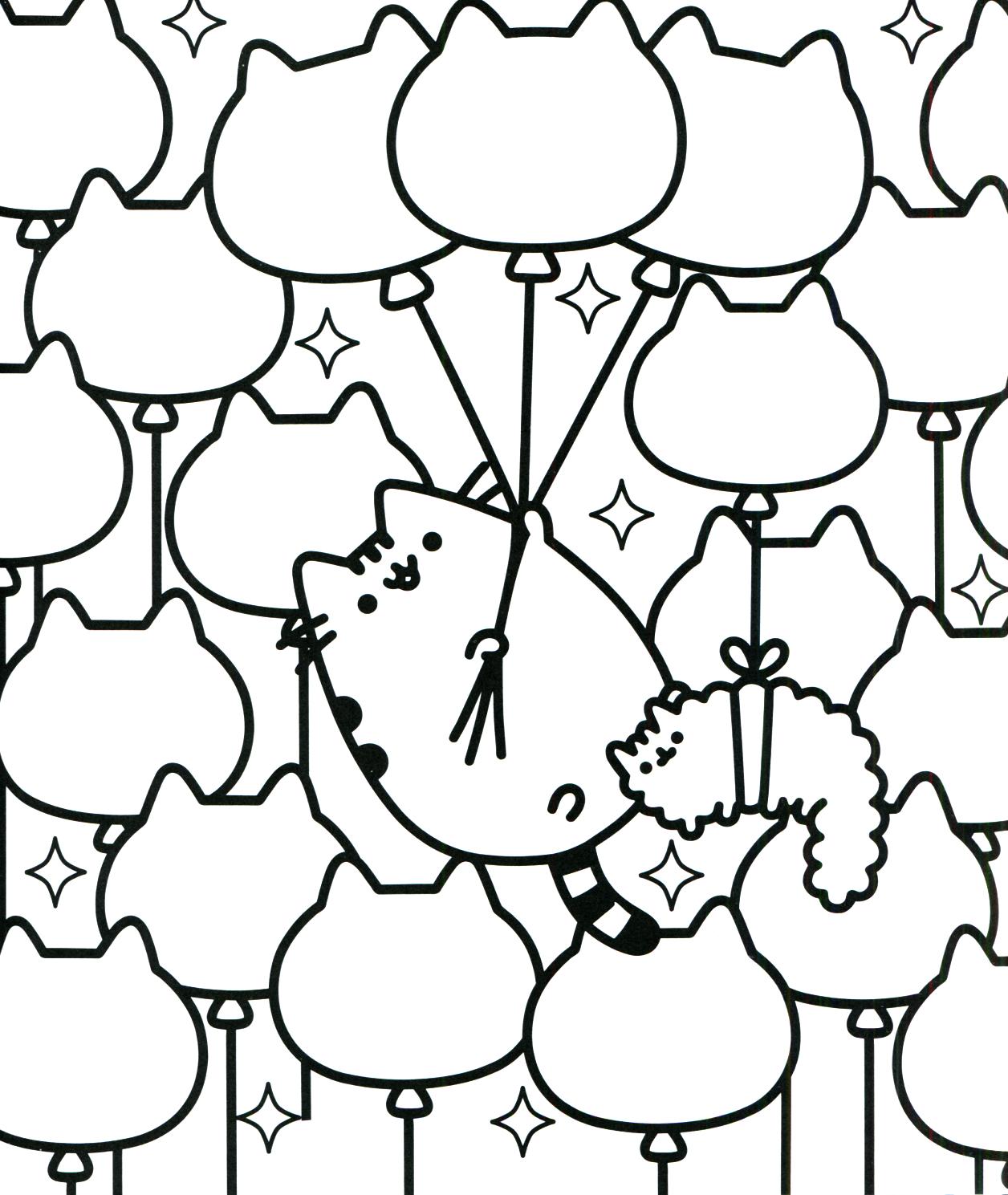 Pusheen Coloring Book Pusheen Pusheen the Cat | Pusheen ...