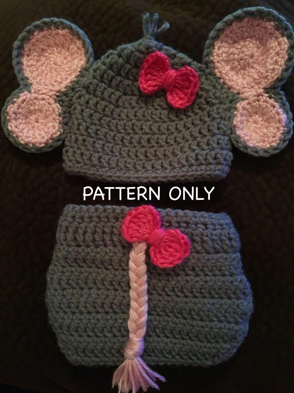 Baby Elephant Outfit Crochet PATTERN | Pinterest | Baby elephants ...