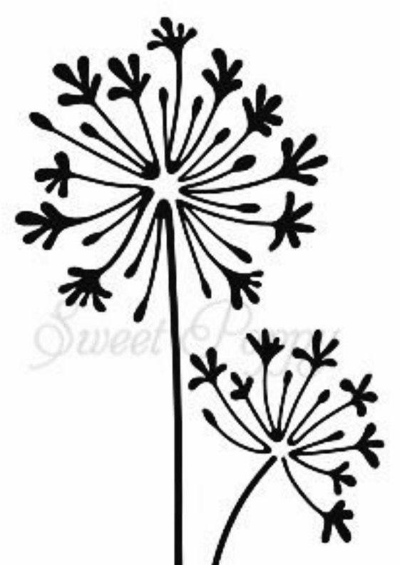 dandelion Силуэт pinterest dandelions stenciling and silhouettes
