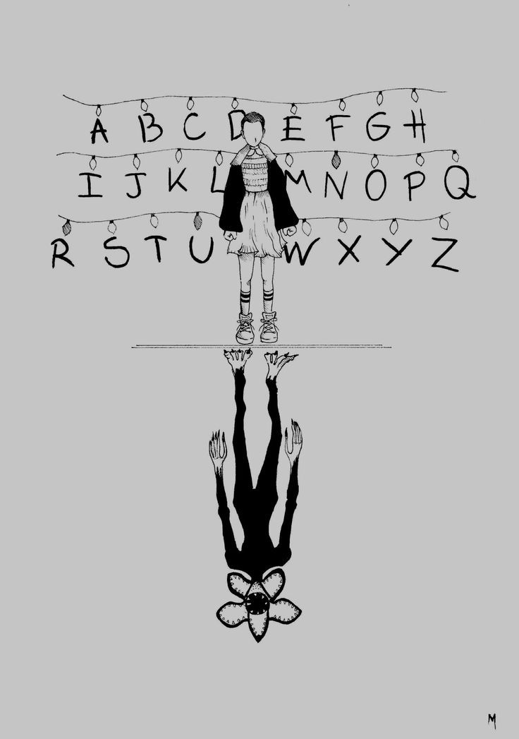 Eleven And The Demogorgon Stranger Things Minimalistic Poster Demogorgon Stranger Things Stranger Things Poster Stranger Things Tattoo