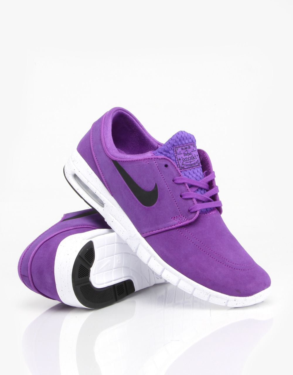 Nike SB Stefan Janoski Max L Shoes - Hyper Grape/Black/White - RouteOne
