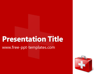 First aid powerpoint template is a red template with appropriate first aid powerpoint template is a red template with appropriate image of first aid kit which toneelgroepblik Gallery