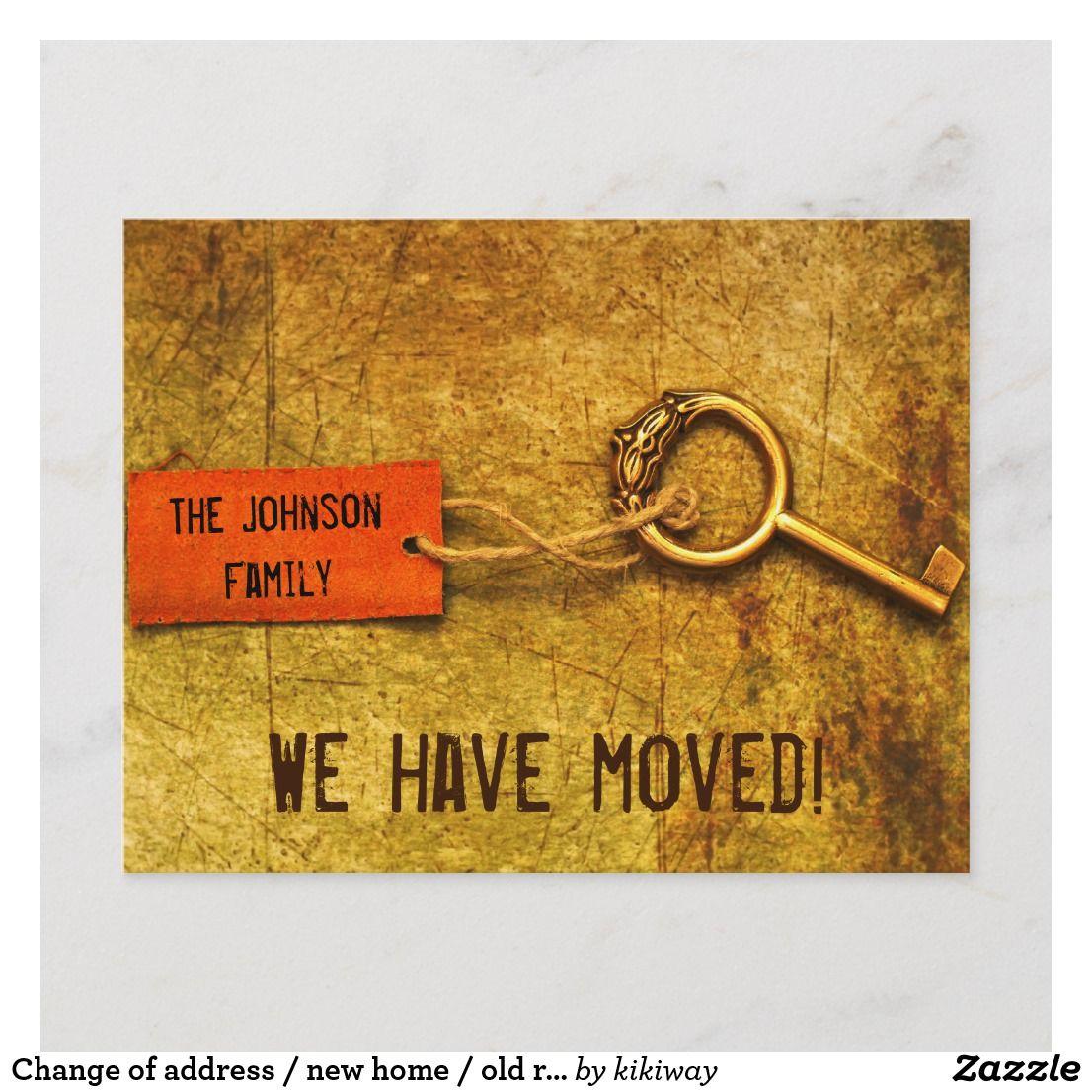 Carte Postale Faire Part Changement D Adresse Nouvelle Maison