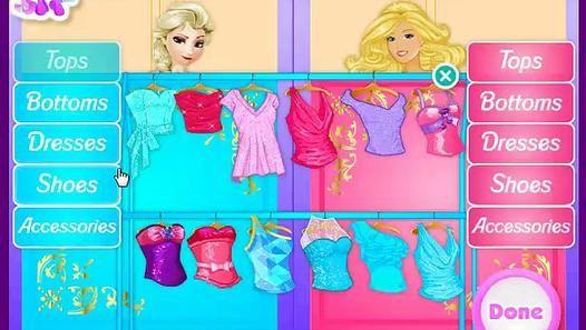 Elsa Vs Barbie Fashion Contest At Friv Planet Video Dailymotion Barbie Fashion Fashion Contest Barbie