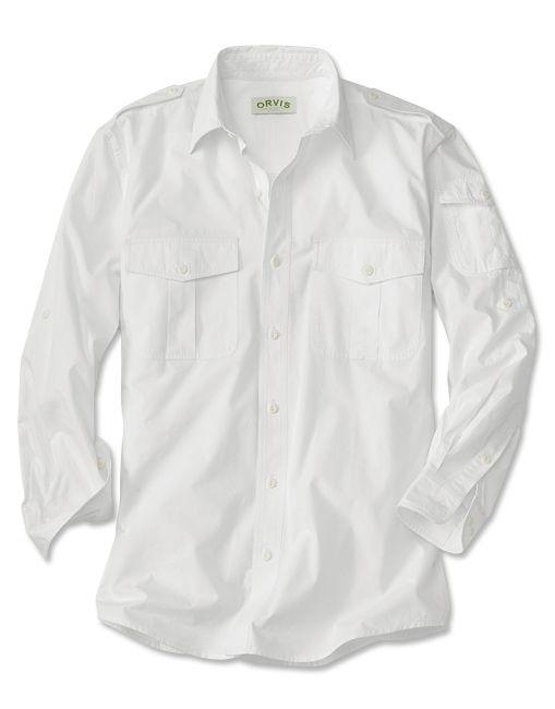 f097809a6c0c Just found this White Poplin Shirt - Long-Sleeved Cotton Poplin Bush Shirt  -- Orvis on Orvis.com!