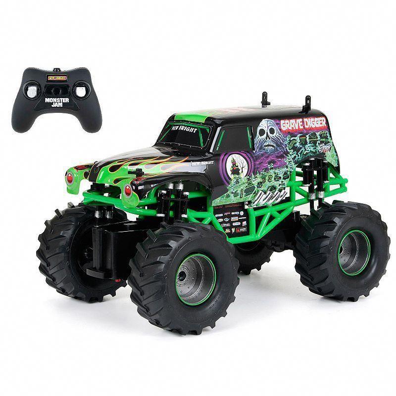 New Bright 1:24 RC Monster Jam Grave Digger Truck, Black ...