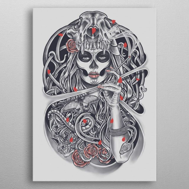 Madame Death by Harry Fitriansyah | metal posters - Displate | Displate thumbnail