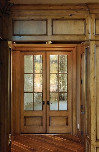 Double Wooden Doors My Favorite This Is A Glass That Will