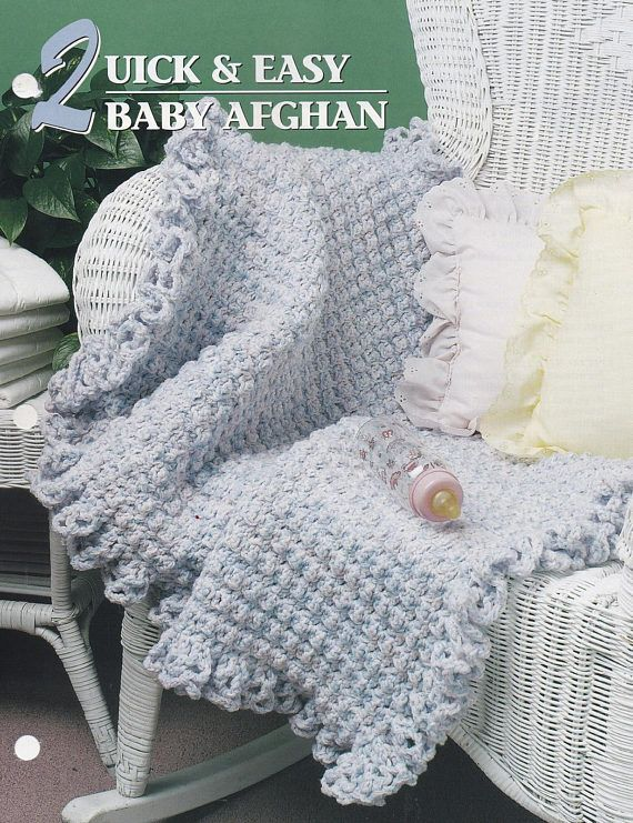 Crochet Tunisian Baby Afghans   5 Patterns  Annie/'s