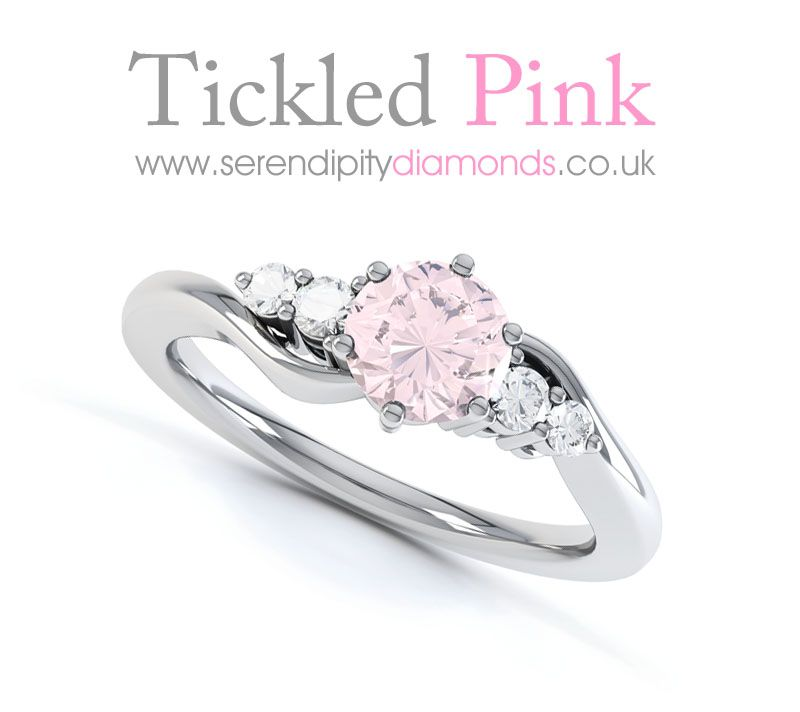 tickled pink for diamond engagement rings the center stone doesnt have to be a diamond - Pink Diamond Wedding Ring