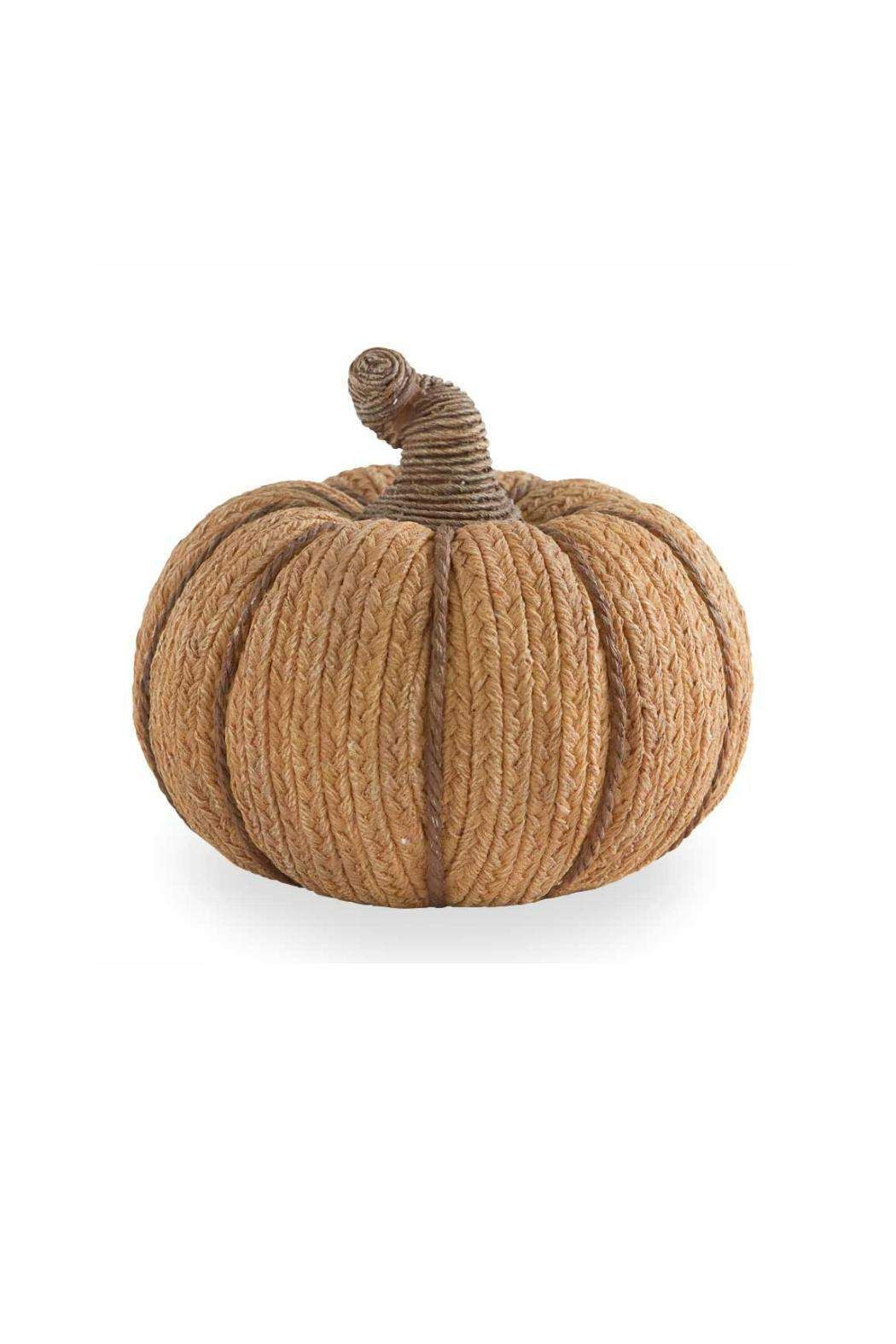 """Plush pumpkins formed of rustic cotton burlap and twine add an inviting textural element to fall displays.    Dimensions:5.5"""" H x 6"""" Dia.   Burlap & Twine Pumpkin by K&K Interiors. Home & Gifts - Home Decor - Decorative Objects South Carolina"""