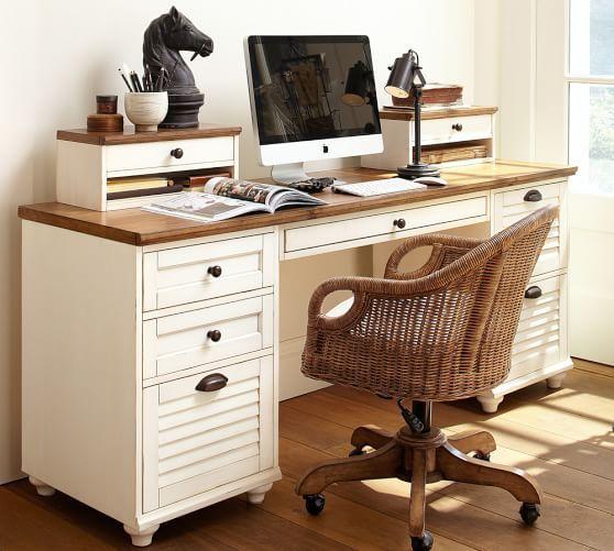 Whitney Rectangular Desk Classic office furniture, White