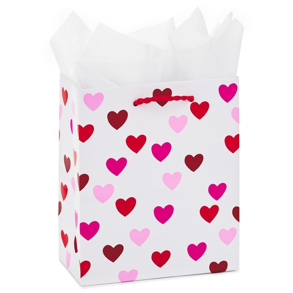 Hearts small gift bag with tissue paper 65 small gift