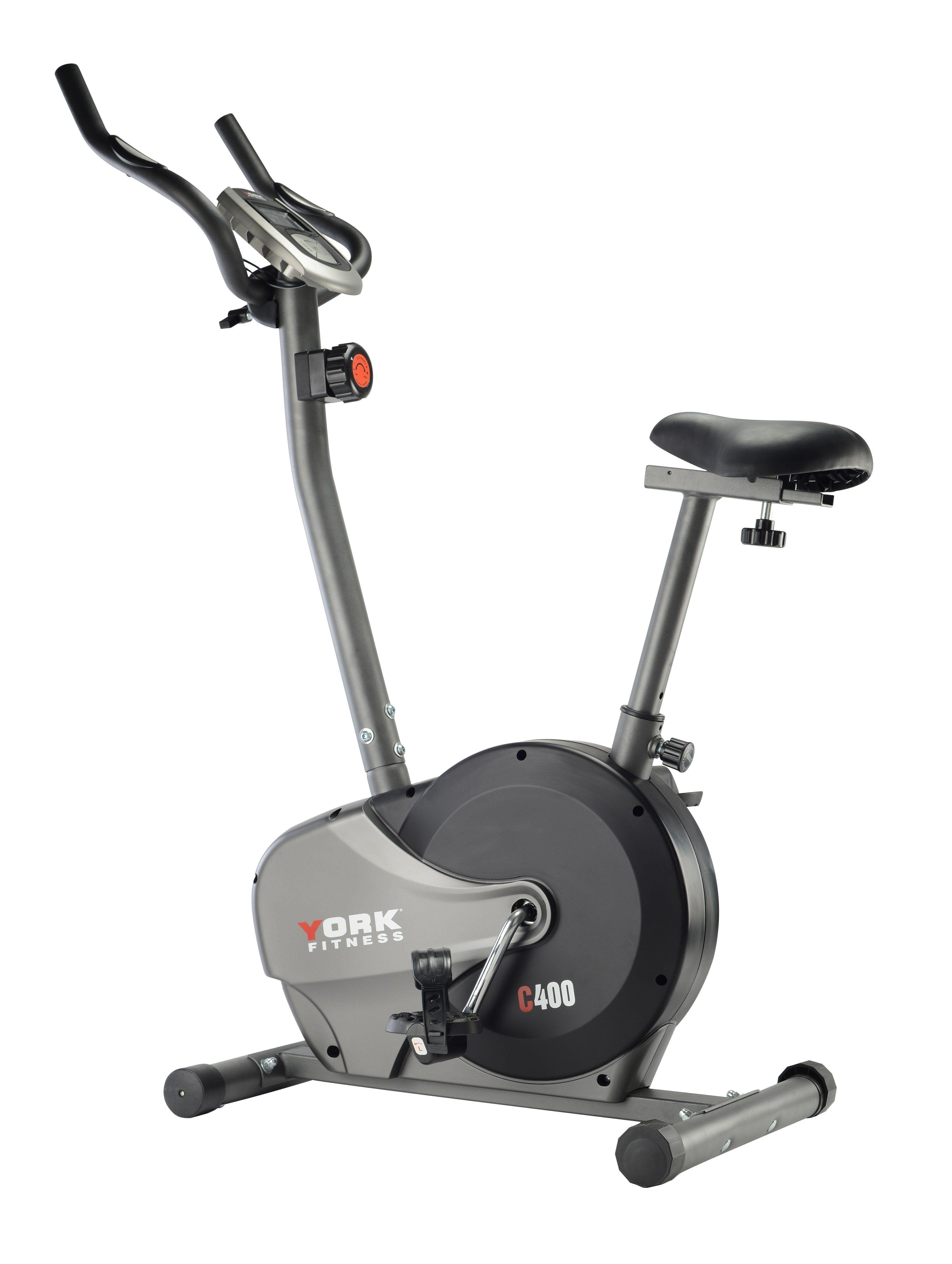 York C400 Manual Exercise Bike Biking Workout Upright Exercise Bike