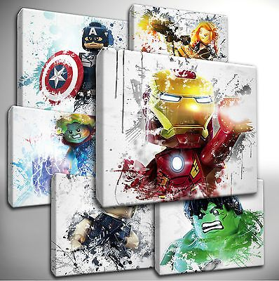 Choose your LEGO AVENGERS Canvas Art Pictures - kids bedroom | Legos ...
