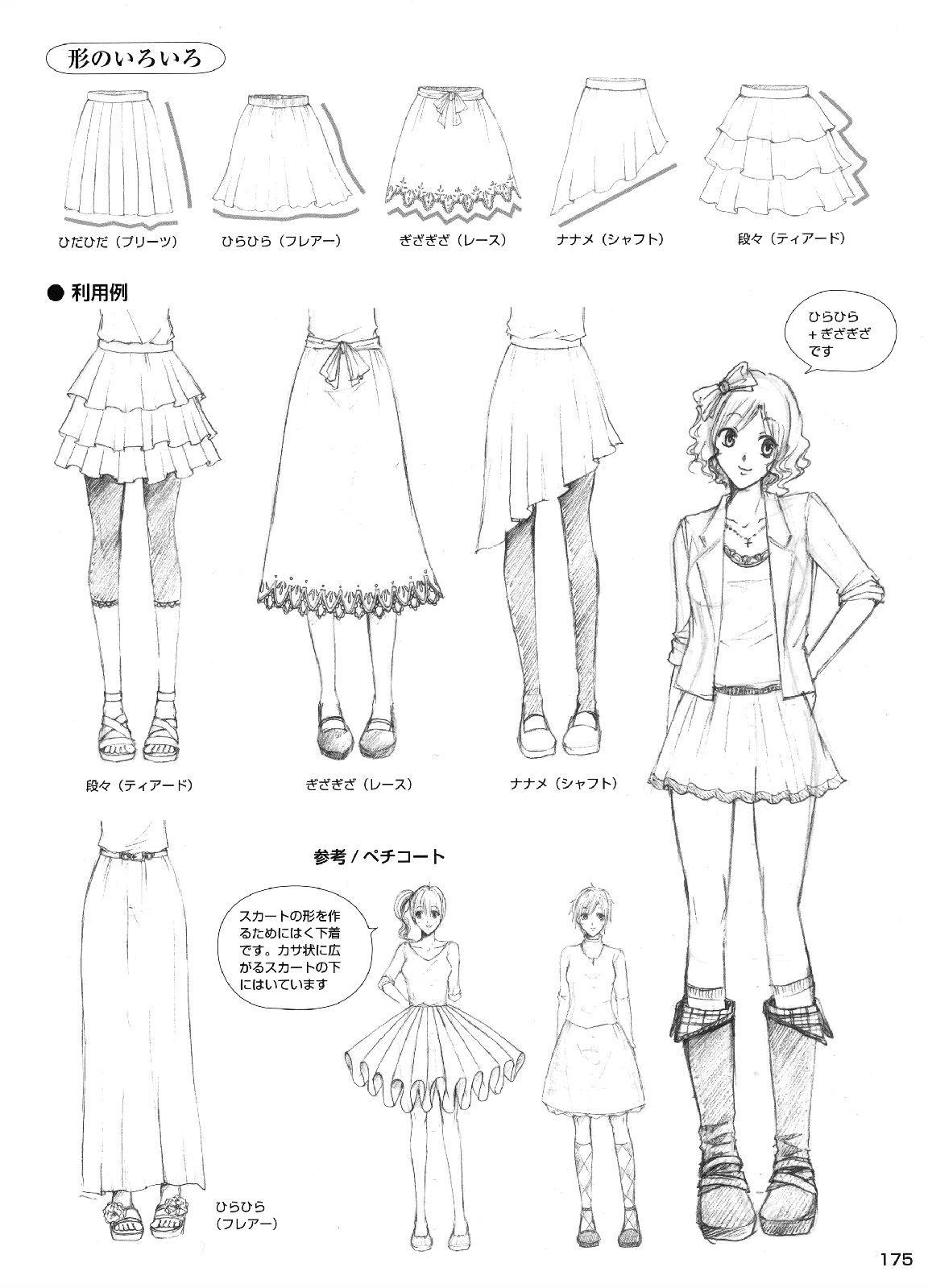 skirt drawing references Drawings, Manga clothes, Manga