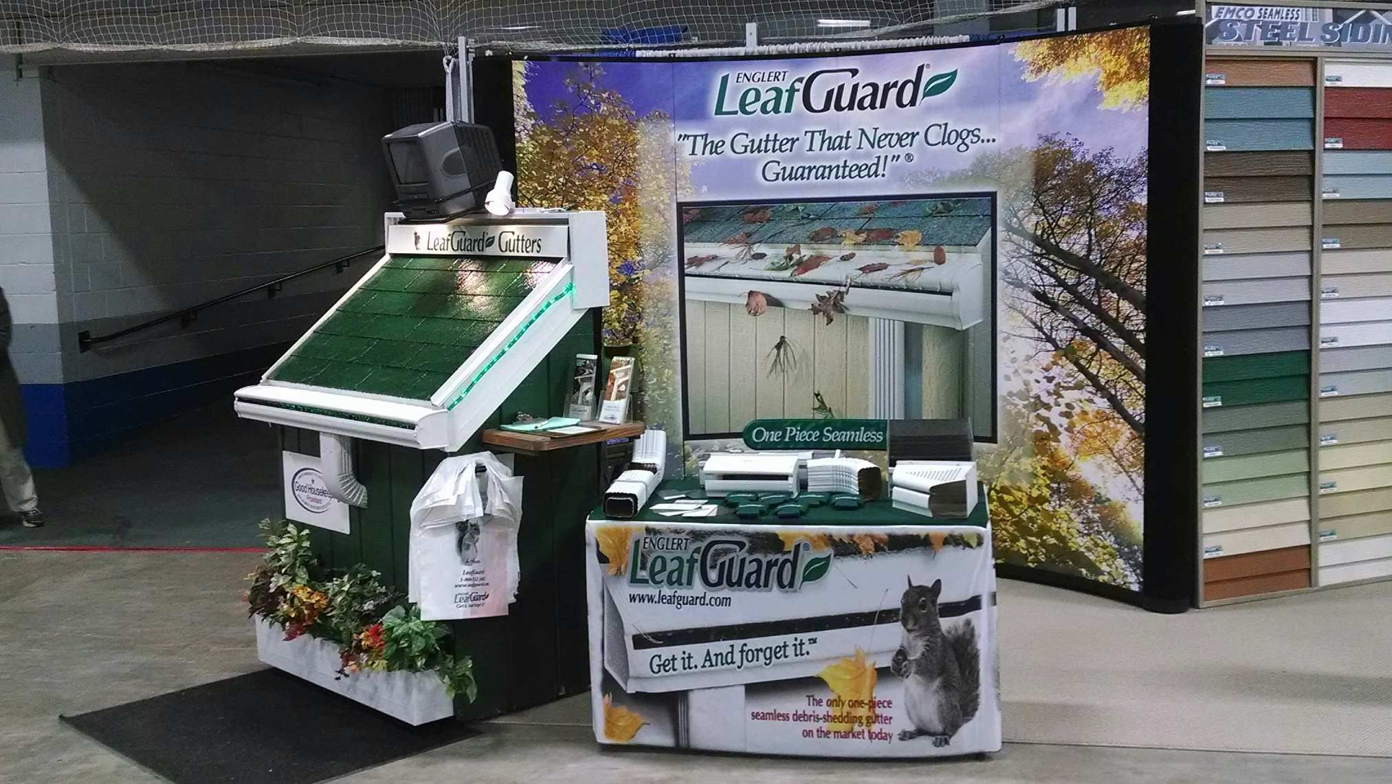 Display Of Our Product Leafguard With Images Seamless