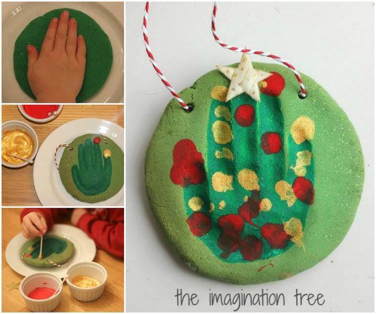 Handprint Christmas Tree christmas Pinterest Handprint