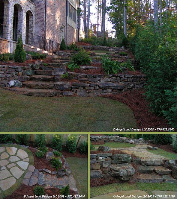Retainer Walls Landscaping Outdoor Landscaping Hillside Landscaping Landscape Design