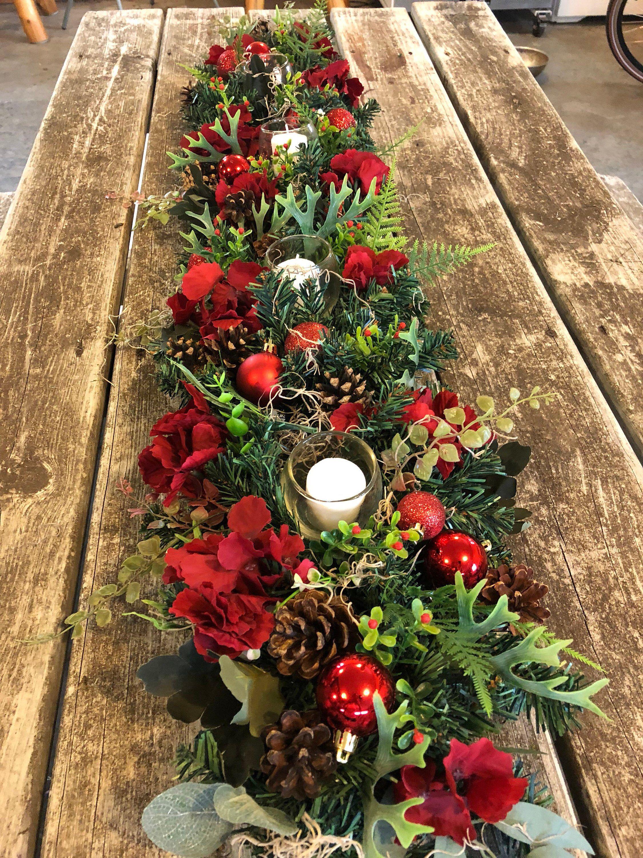 Christmas centerpiece, christmas garland, advent ...