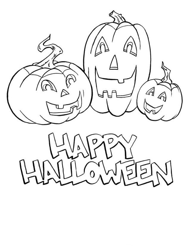 Happy Halloween Coloring Pages   halloween coloring pages: Happy ...