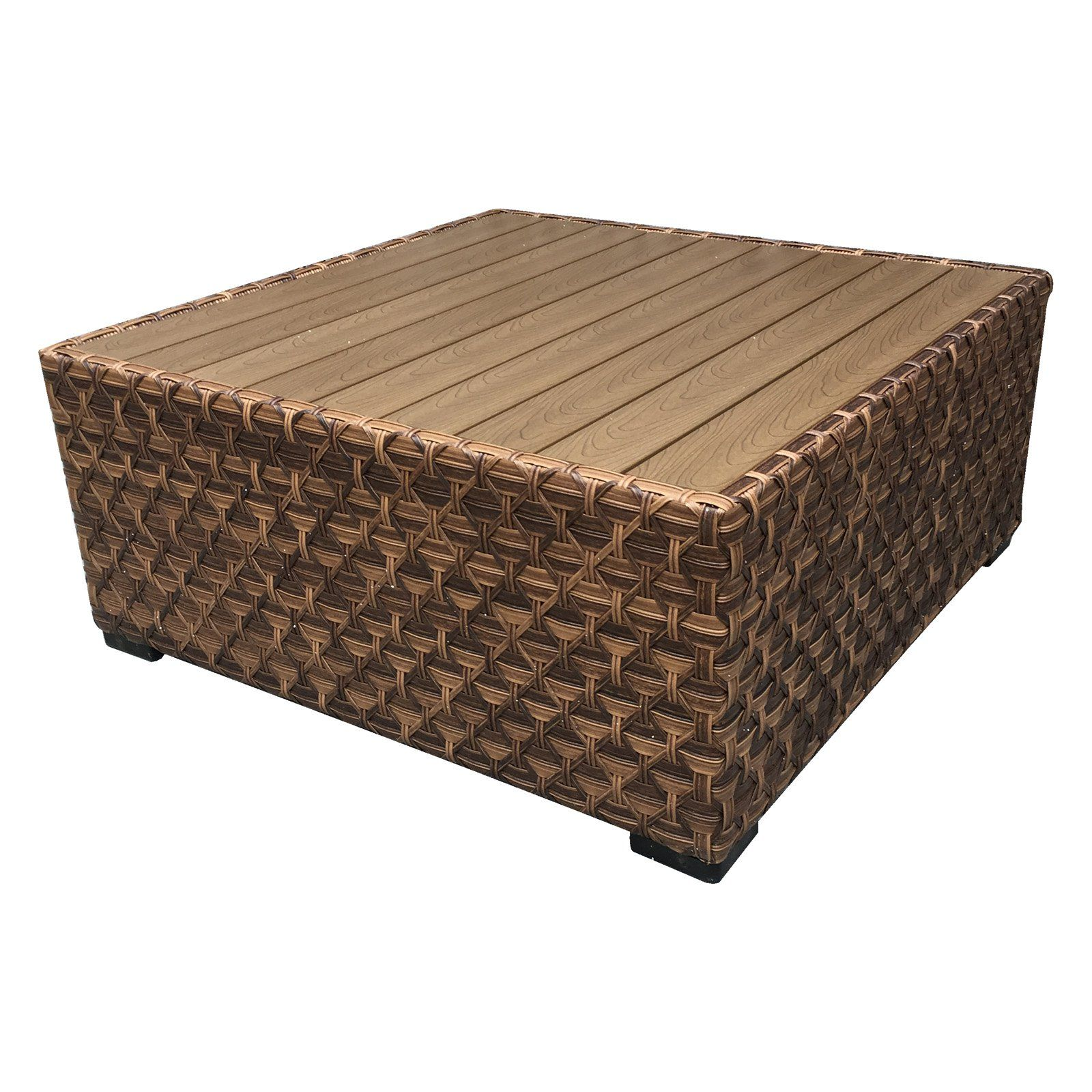 Outdoor Wicker Paradise Westbury Square Coffee Table Men S