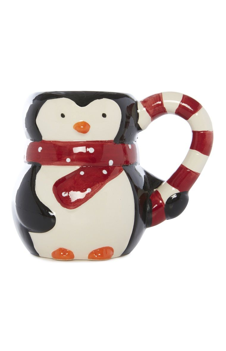 Add Some Christmas Cheer With A Ceramic Primark Penguin Mug  # Penguin Lodge Muebles