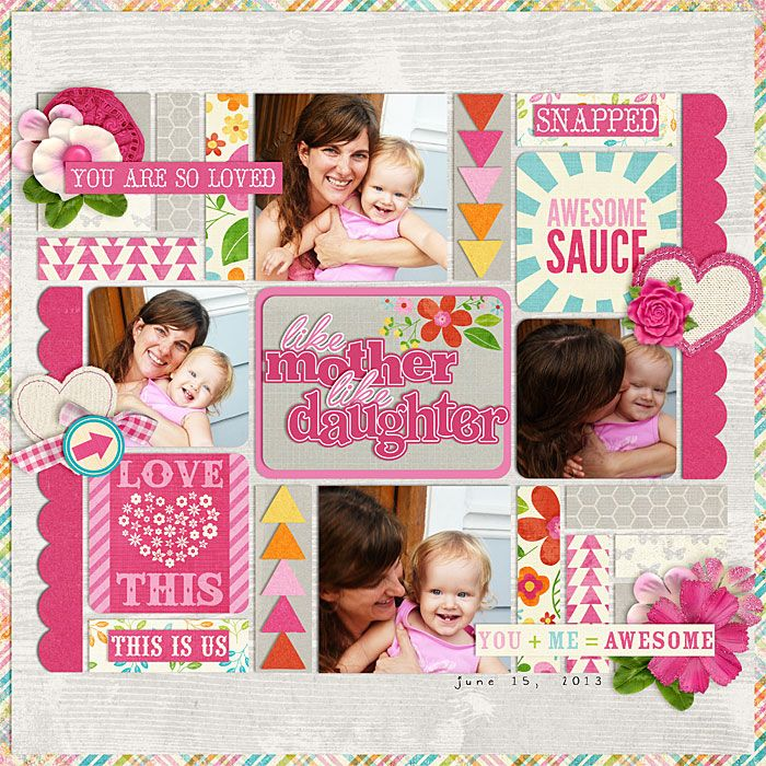 Layered Templates 148 by Cindy Schneider Life Stories: Girl Kit, Filler Cards & Word Bits by Zoe Pearn and Kristin Cronin Barrow Layered Titles: For the Girls by Cindy Schneider