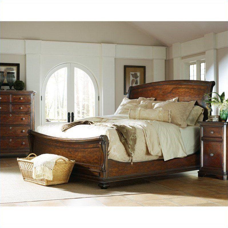 stanley furniture continental piece sleigh bedroom set barrel ebth