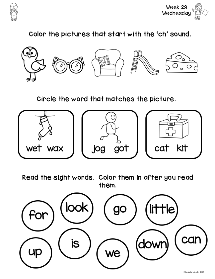 April Kindergarten NO PREP Math and Literacy Homework | Kindergarten ...