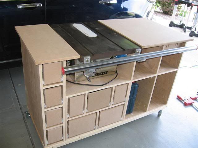 Table Saw Mobile Workstation 4 Construction Is Moving