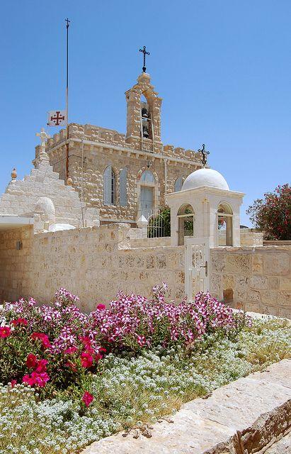 Franciscan Chapel at Milk Grotto, Bethlehem, West Bank, Palestine by Lenora Genovese