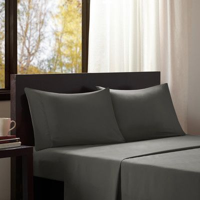 Intelligent Design Intelligent Design Solid Sheet Set Size: Extra-Long Twin, Color: Charcoal