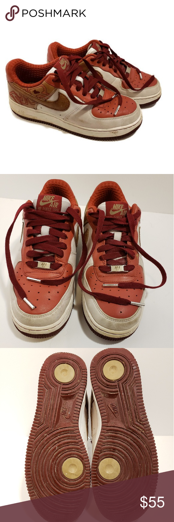 promo code e4253 81316 Nike Air Force 1 white pink tan youth 6.5 Nike Air Force 1 Premium '07 (NS)  Pre-owned gently used see pictures for condition. Style Number: 315517-122  ...