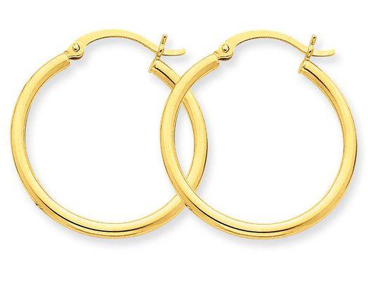 10Kt Gold Polished Hoops 3//40Mm Hoop Earrings